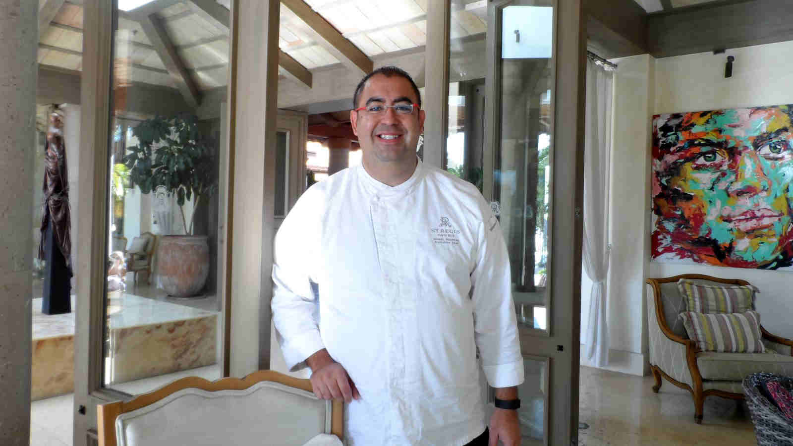 Chef Manuel Peruyero of the St. Regis Punta Mita Resort Mexico is cooking at the Culinary Safari 2017 Mallorca.
