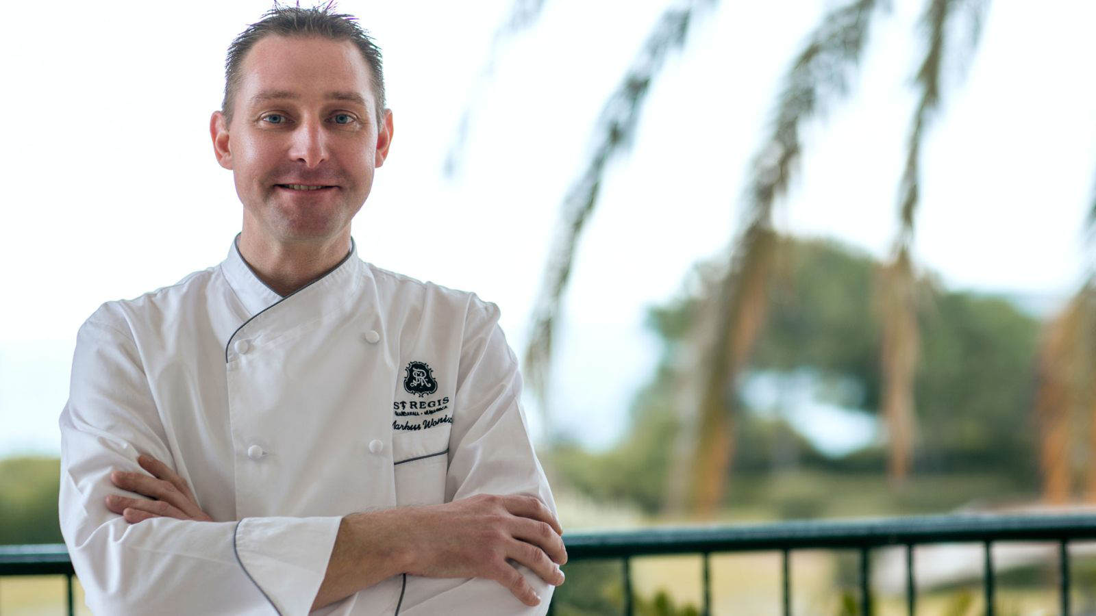 Executive Chef Markus Wonisch of the St. Regis Mardavall Mallorca Resort at the Culinary Safari 2017 Mallorca.