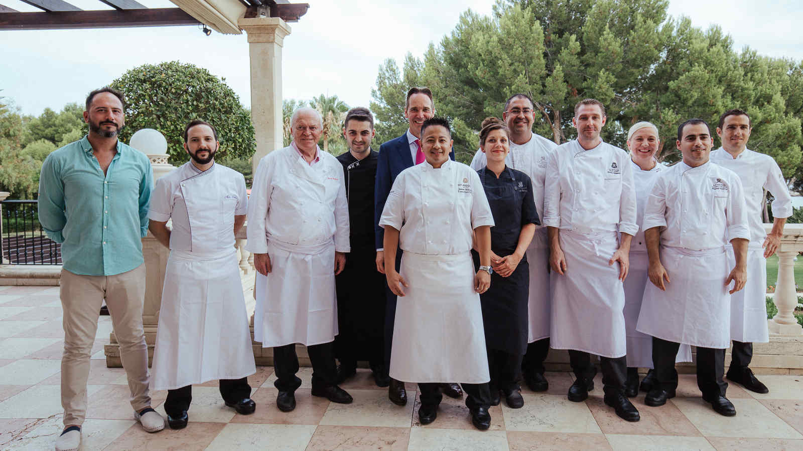 The 10 chefs of the Culinary Safari 2017 at the St. Regis Majorca