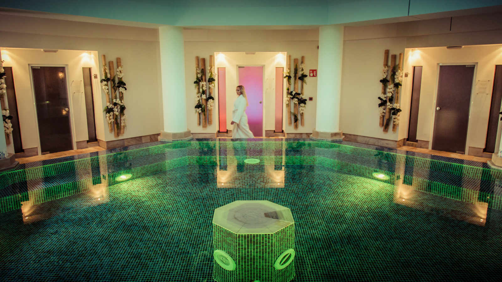 Enjoy the therapeutic benefits of our relaxing interior pool at The St.Regis Mardavall Mallorca Resort