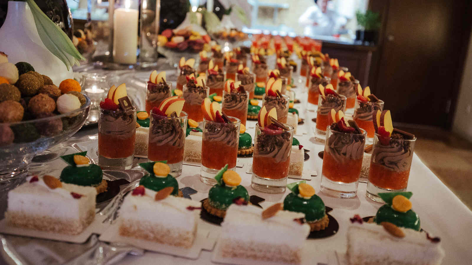 Dessert buffet prepared by Sabrina Schanz from Ritz Carlton Berlin